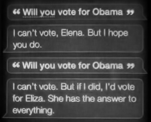 will you vote for Obama, Siri?