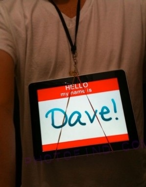 iPad as a badge