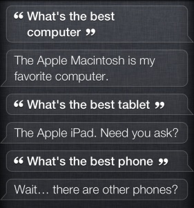 What is your favorite computer, Siri?