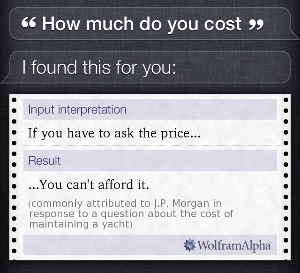 how much do you cost, siri?