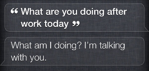 what are you doing after work, siri?