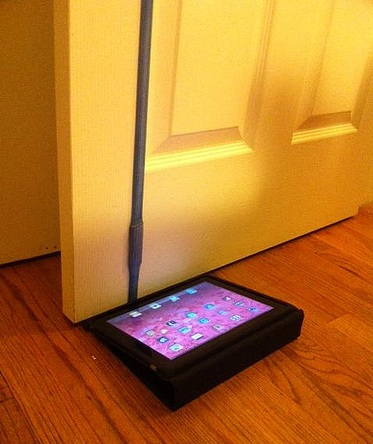 iPad as a doorstop