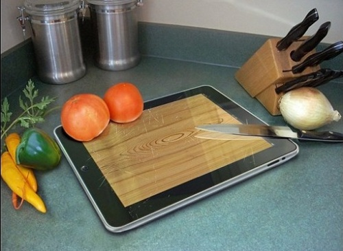 iPad as a kitchen board