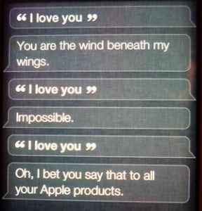 i love you, siri