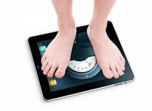 iPad as scales