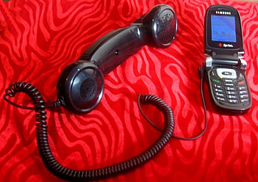 Retro cellphone handset