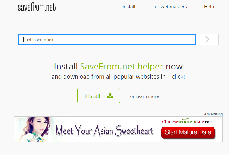 savefrom interface