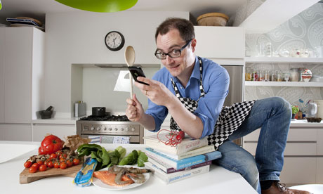 Smartphone in the kitchen