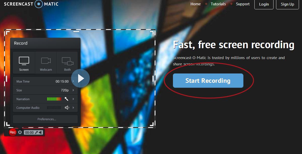 screencast-o-matic start