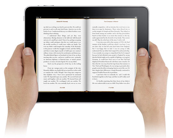 reading ebooks on ipad