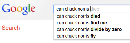 can chuck norris...