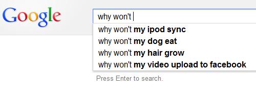 why won't...
