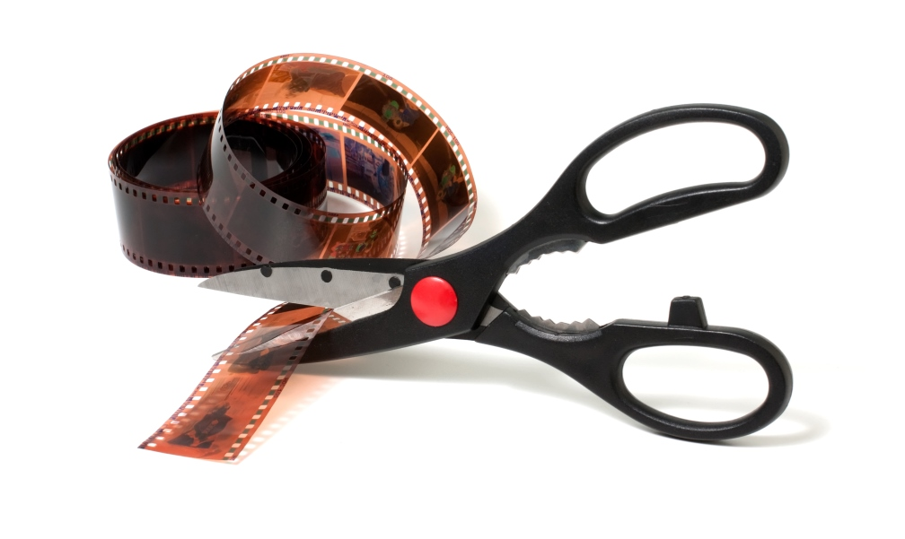 scissors cutting tape