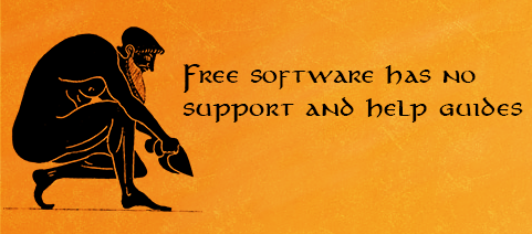 Free software has no support