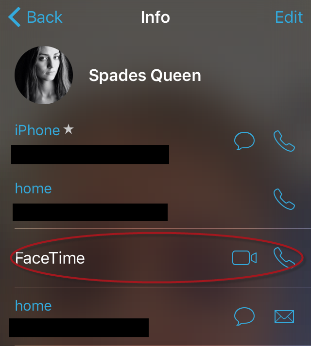 FaceTime iPhone
