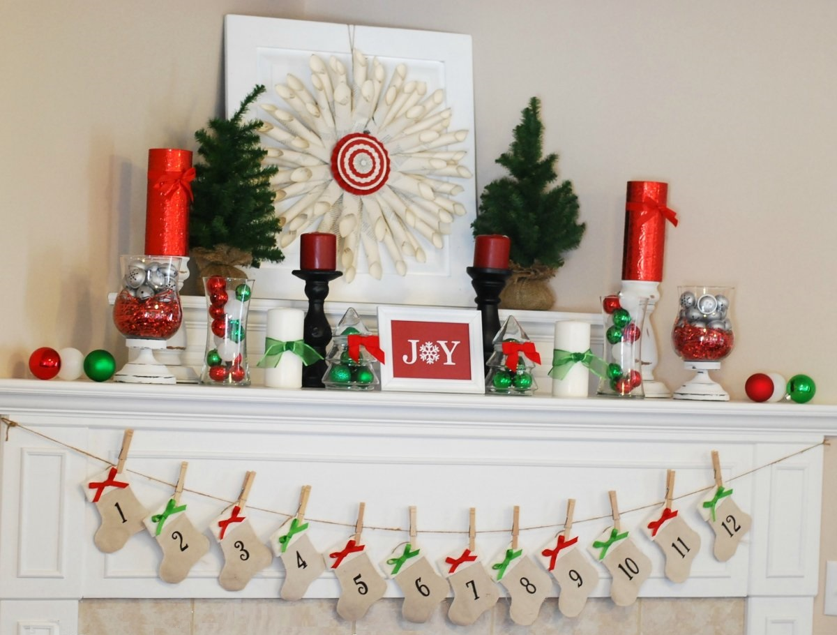 Diy christmas decorations 15 home decor ideas freemake for Christmas home decorations pinterest
