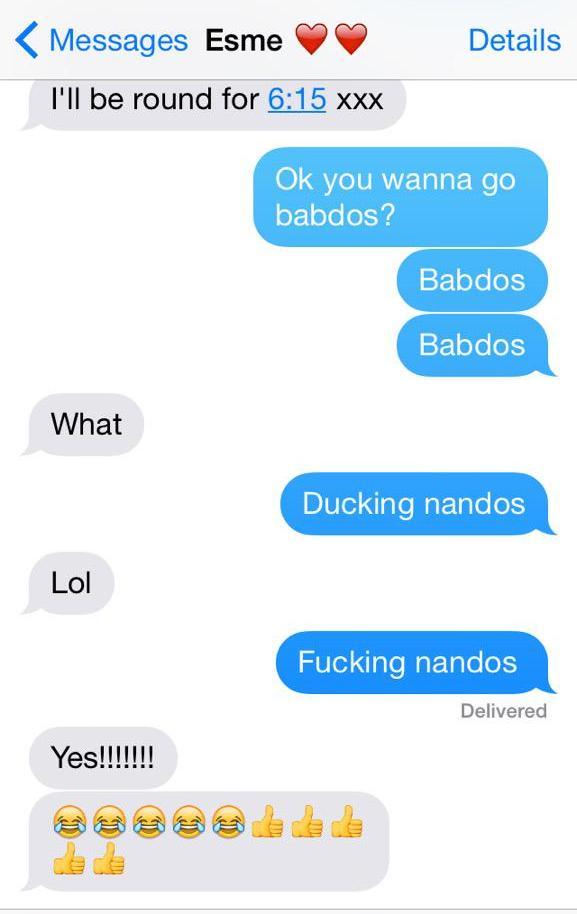 nandos mishaps
