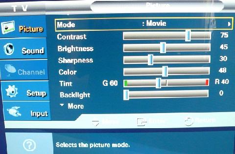 HDTV calibration