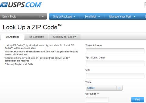 find a postal code: