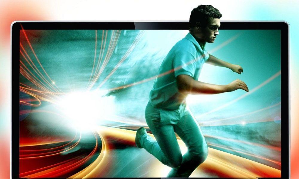 TV man running
