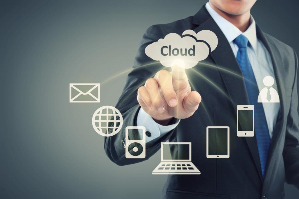 cloud service stock image