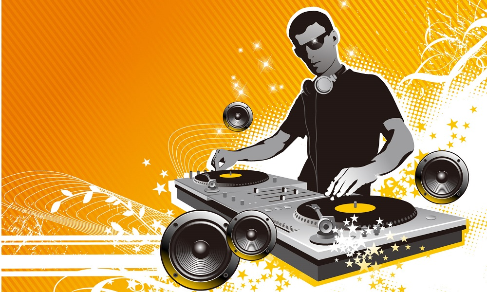 2D DJ stock image