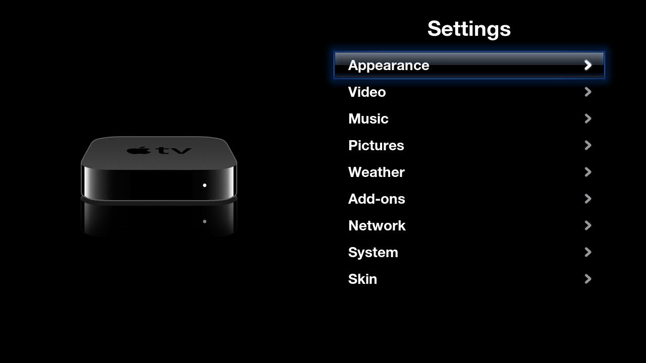 Apple tv Settings Screen Settings Apple tv