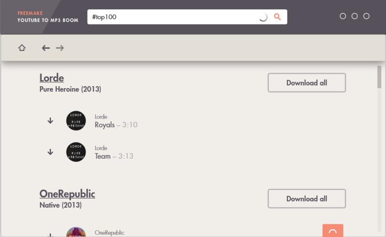 Freemake Youtube MP3 Boom Converter