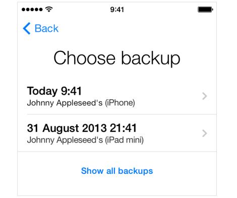 Restore your iCloud Backup