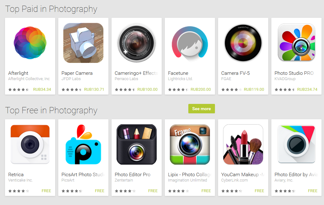 top photo editors for Android
