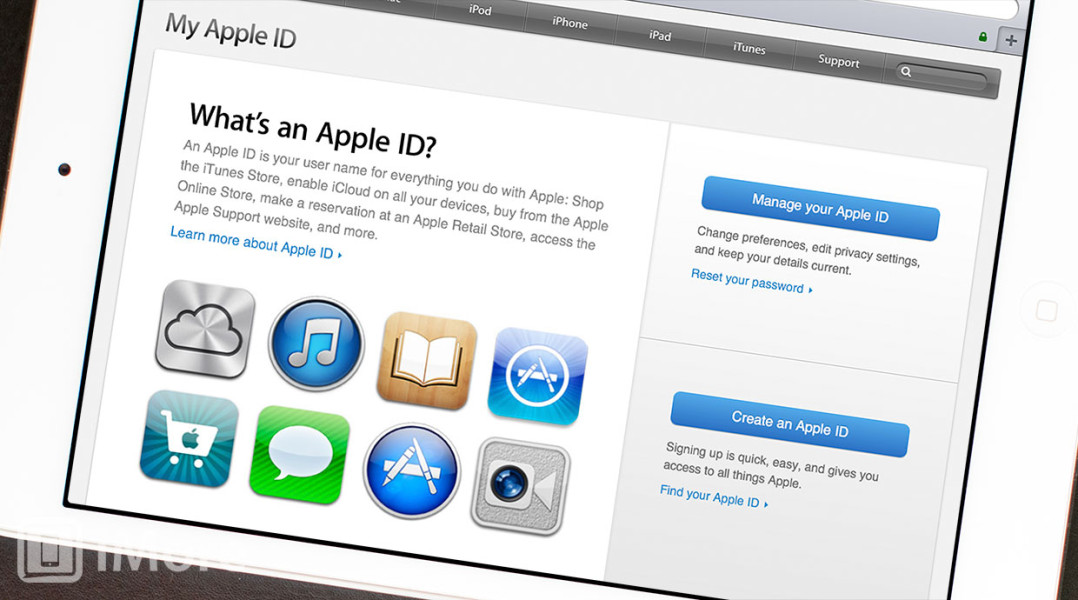 Apple id site preview