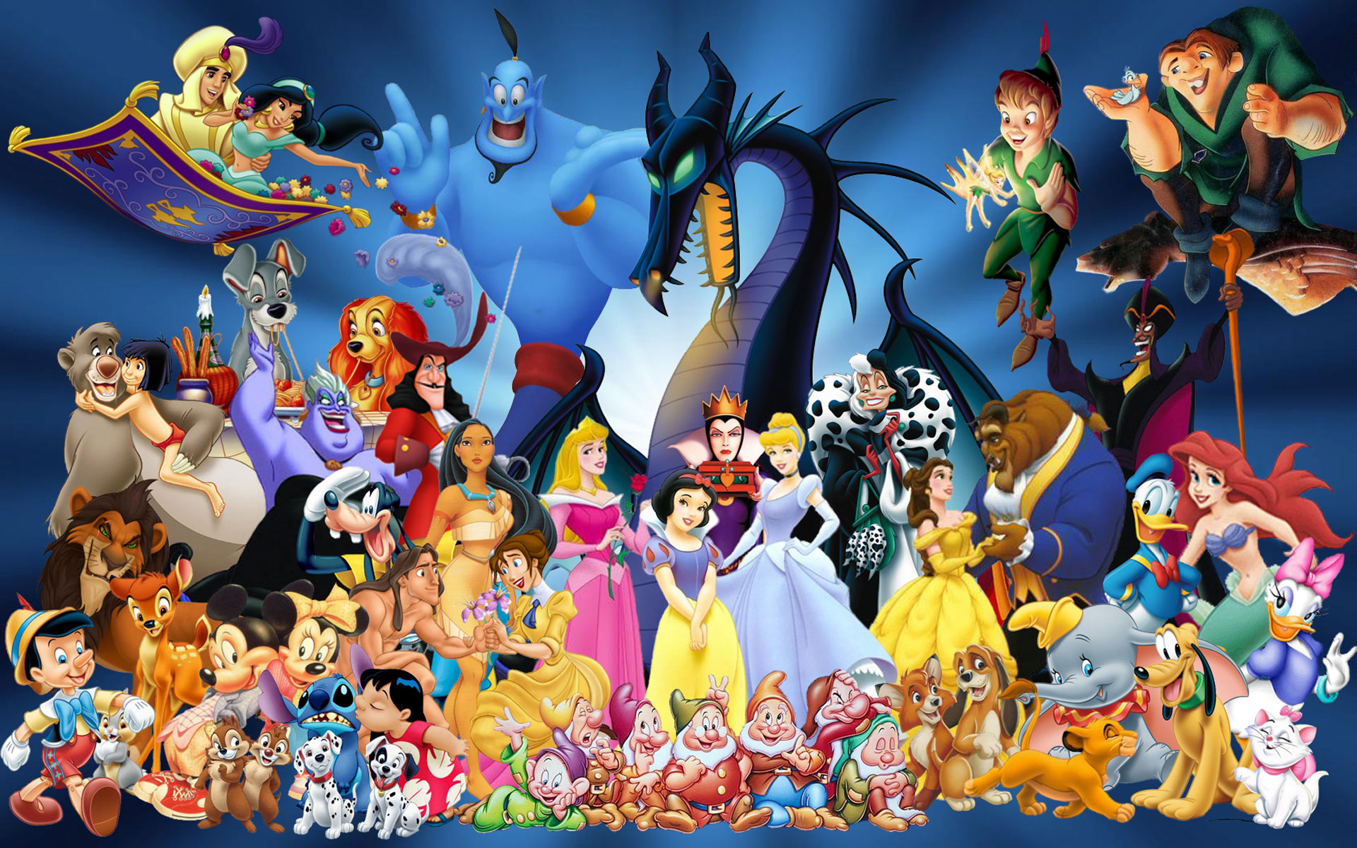 Disney Cartoon Characters Wallpapers In 3d Fantastic Disney Cartoons