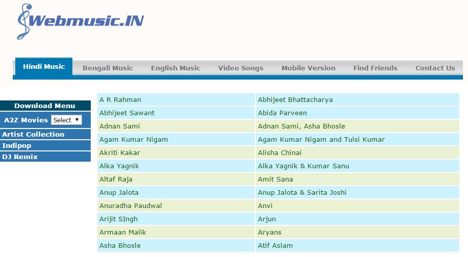 webmusic in hindi video free