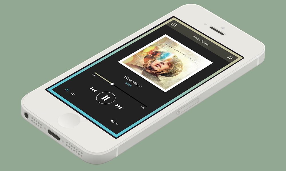 iphone with music app