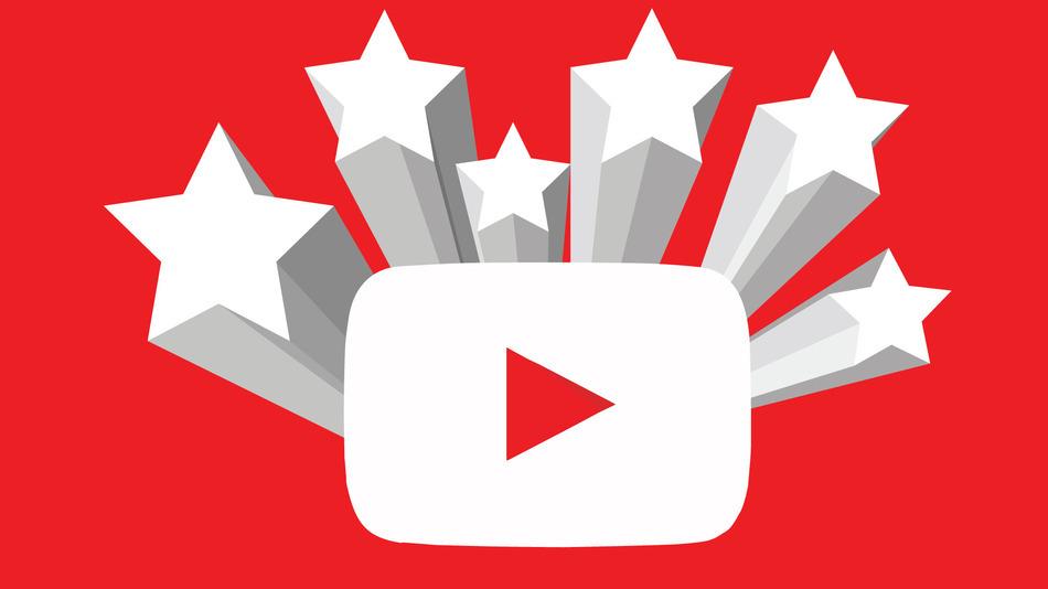 youtube logo with stars