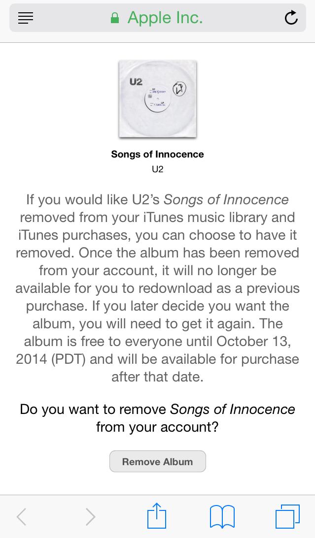 delete u2 album