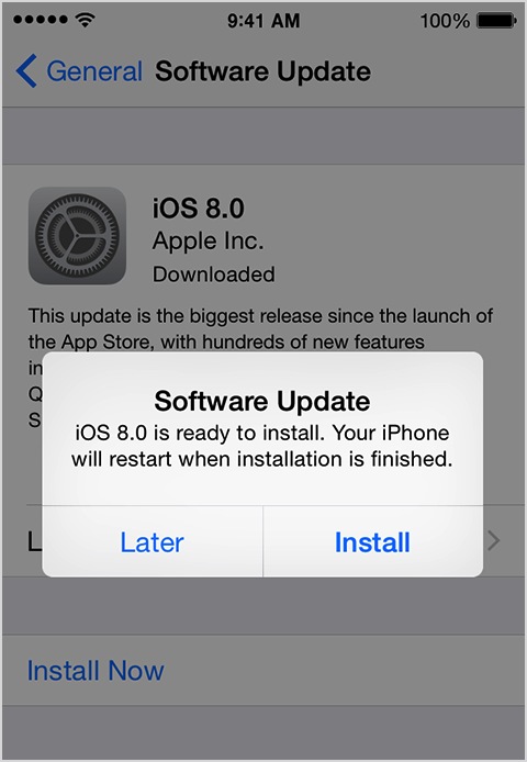 Update iphone to the latest iOS version