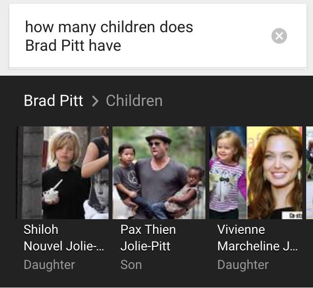 ok google brad pitt children