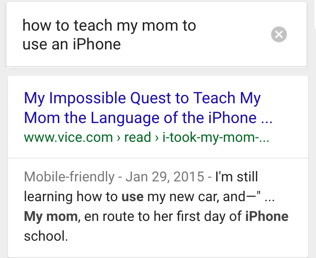 ok google how to teach my mom to use iphone