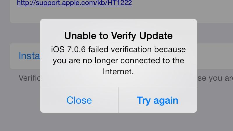 iPhone is not connected to Wi-Fi