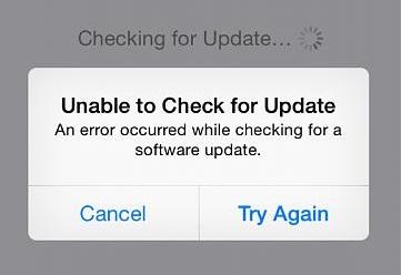 unkonown update message