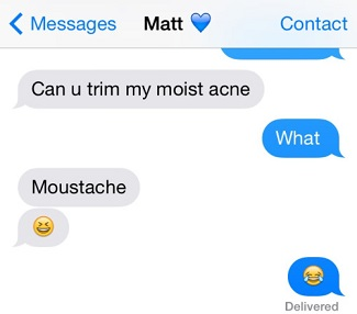 Can you trim my moist acne