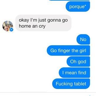 Go finger the girl