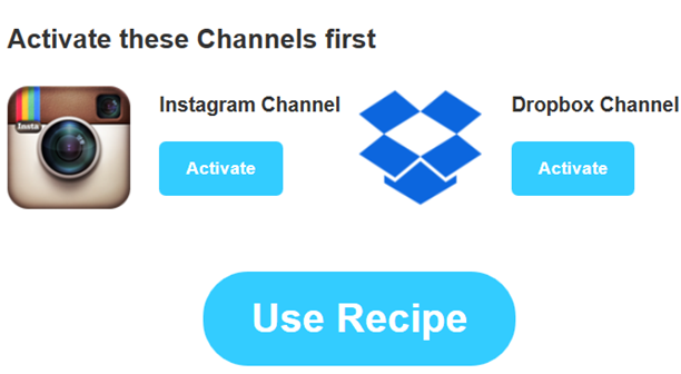 connect accounts to IFTTT