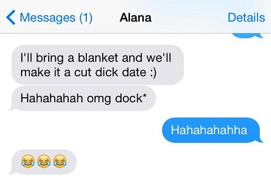 date with blanket autocorrect fail