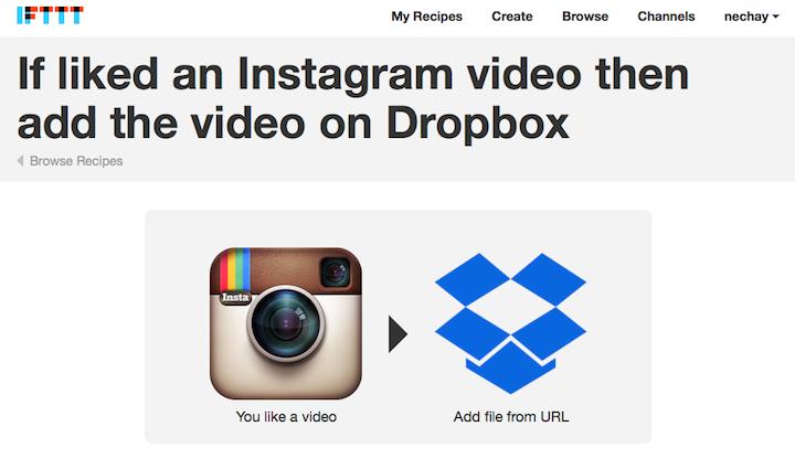 download videos to Dropbox