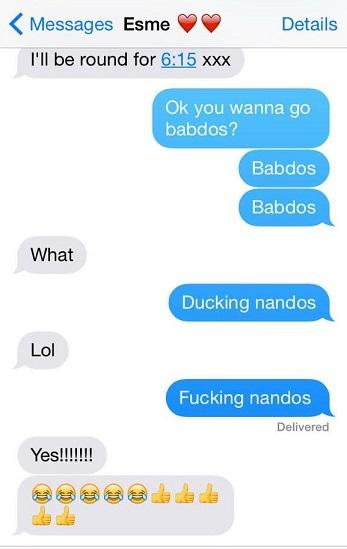 nandos mishaps iPhone