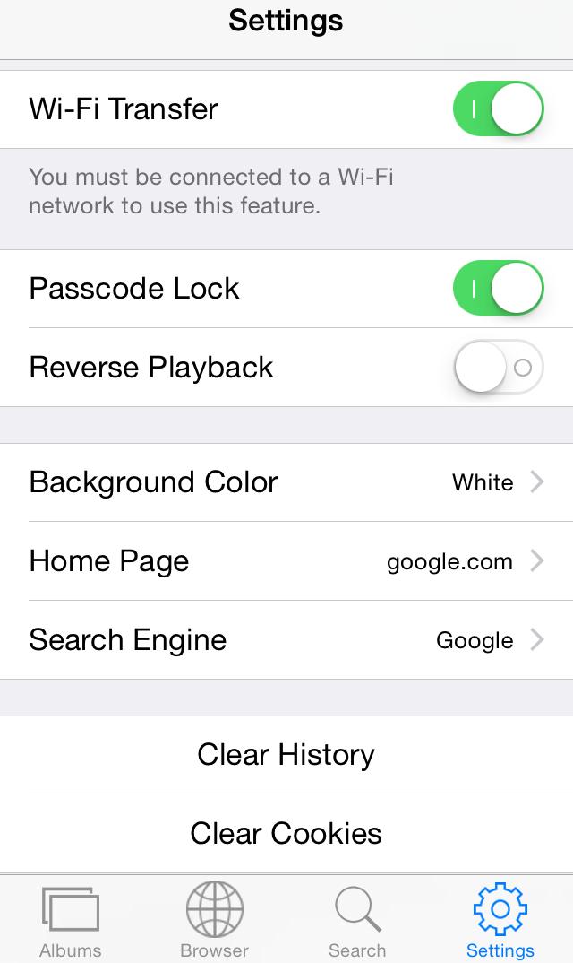 GifPlayer settings