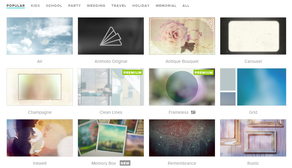animoto slideshow