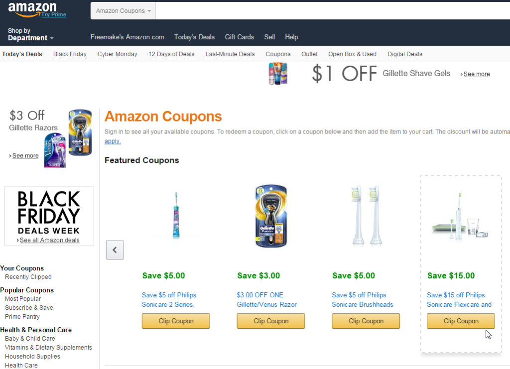 Coupons @ Amazon.com